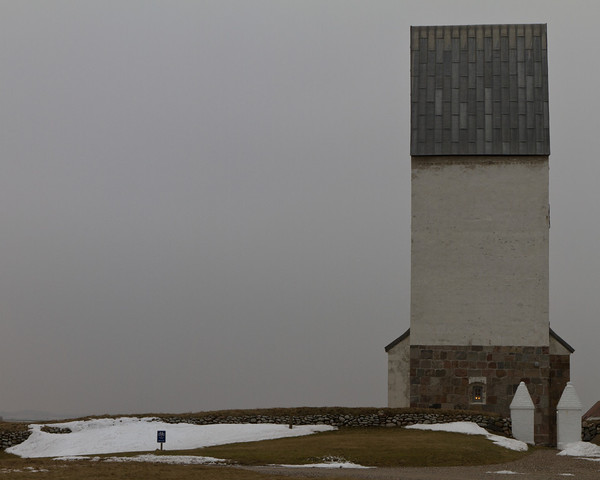 Trans kirke, Bovbjerg. Feb 27 @ 13:20... with the North Sea in my back